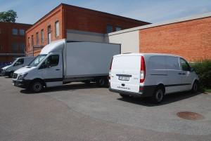 Mercedes Sprinter bakgavelbil Euro5 2 st  Mercedes Vito Euro5 maxlast 940 kg